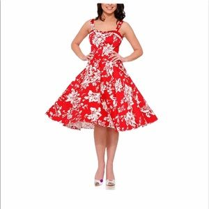 Hearts & Roses London floral fit & flare dress